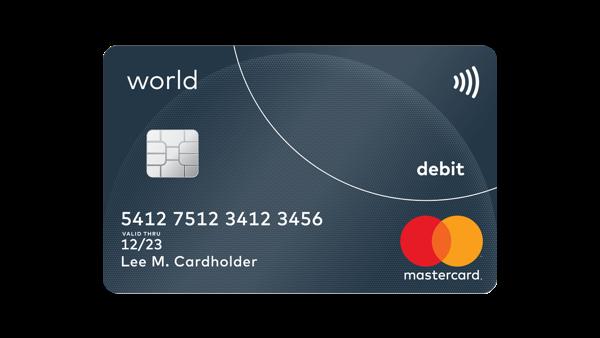 Travel Debit Card World Debit Mastercard